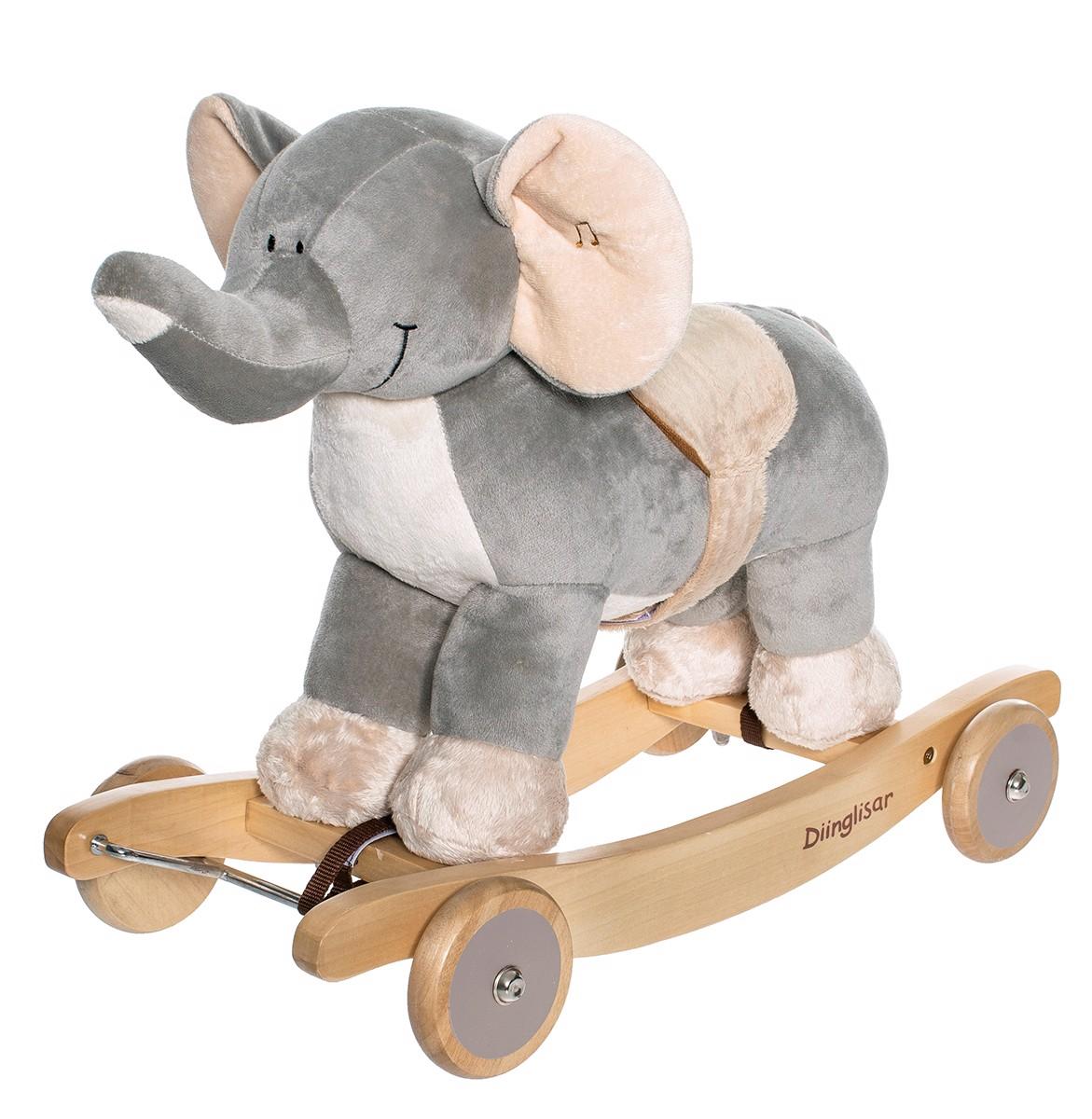 Image of   Diinglisar Wild, Gyngedyr m. Lyd, Elefant