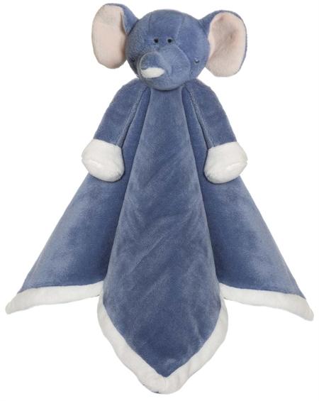 Image of Nusseklud, Elefant i denim blå (TK4073-Brodering 1 Linje)