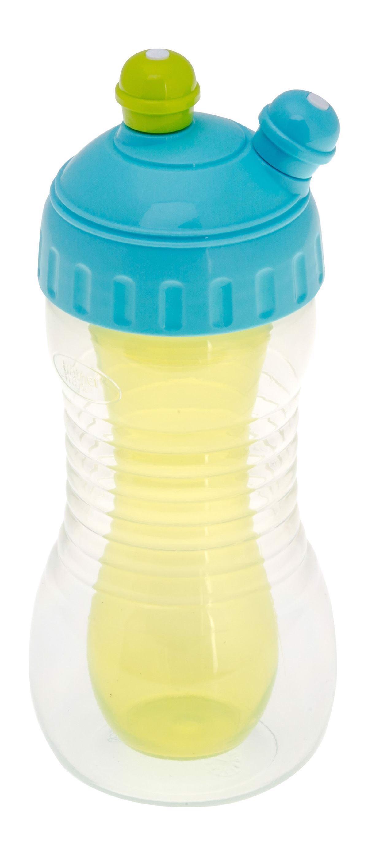 Image of   Drikkeflaske - Blå/Grøn - 2-i-1
