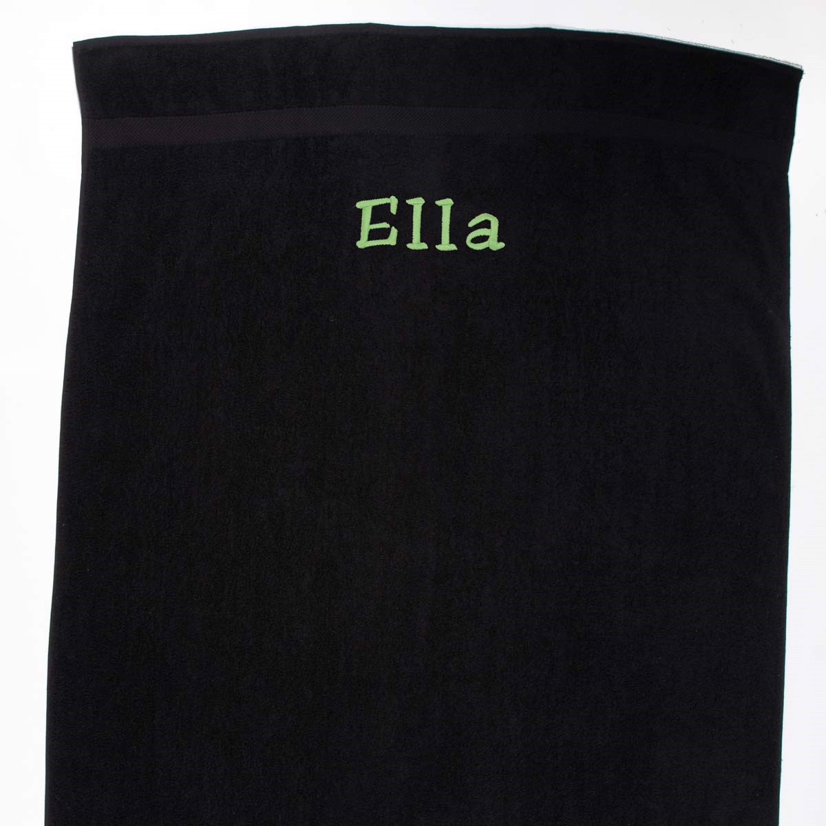 Image of   Håndklæde med navn, Sort 100 x 150