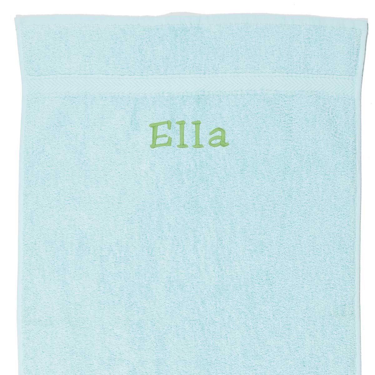 Image of   Håndklæde med navn - Mint 50 x 90cm
