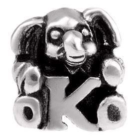 Image of   Alfabet sølv: K