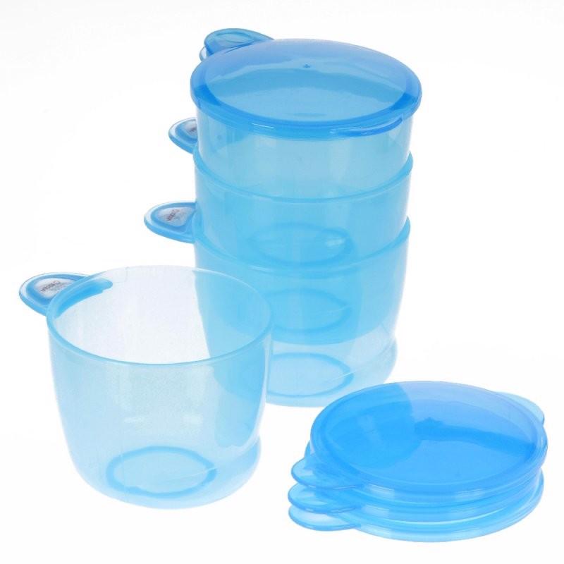 Billede af Praktiske snak/ opbevarings skåle 4 stk- blå