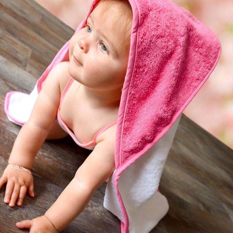 Image of Badeslag pink og hvidt med navn (Badeslag Pink Blossom LD3301-Uden Brodering - Copy)