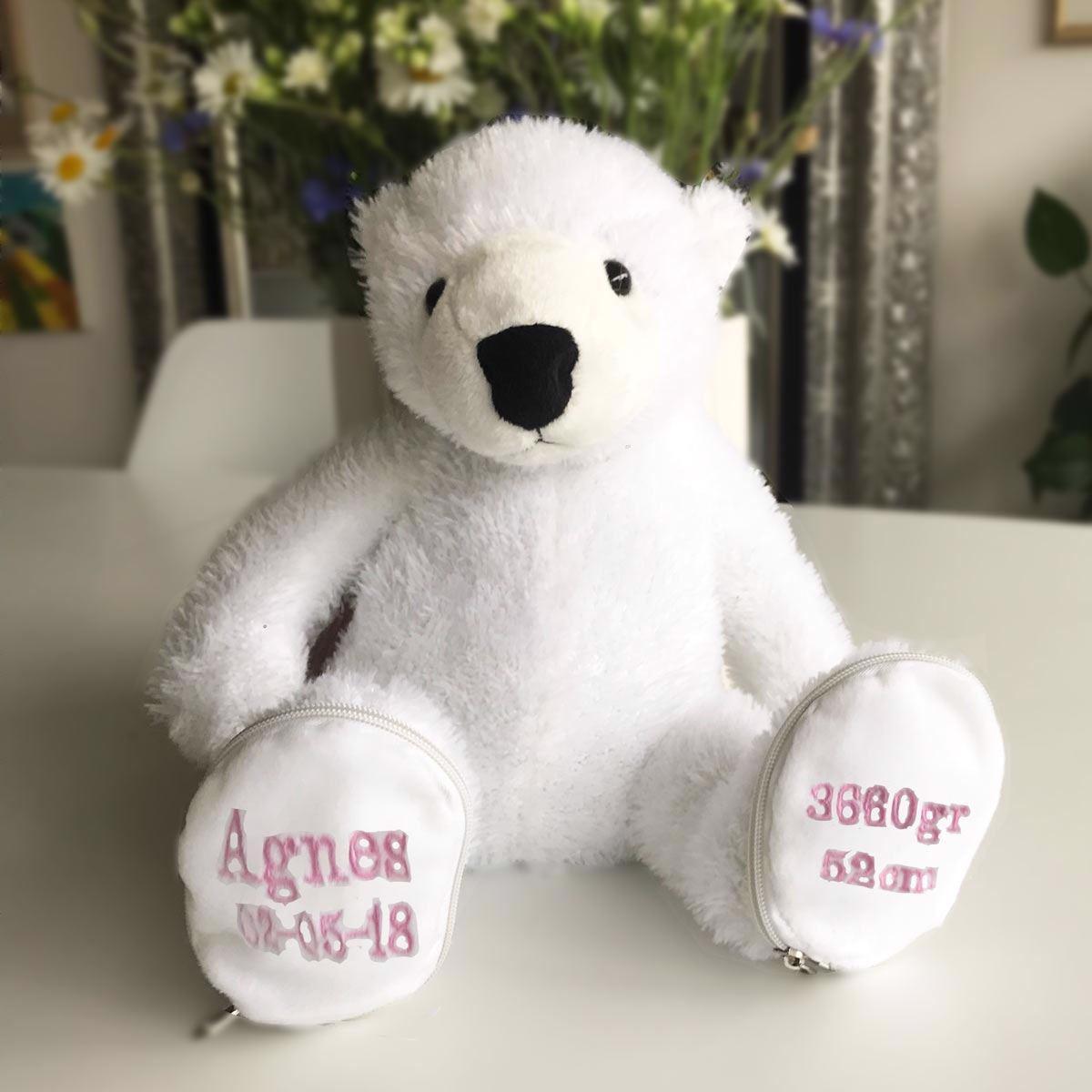 Personlig og unik navne bamse isbjørn