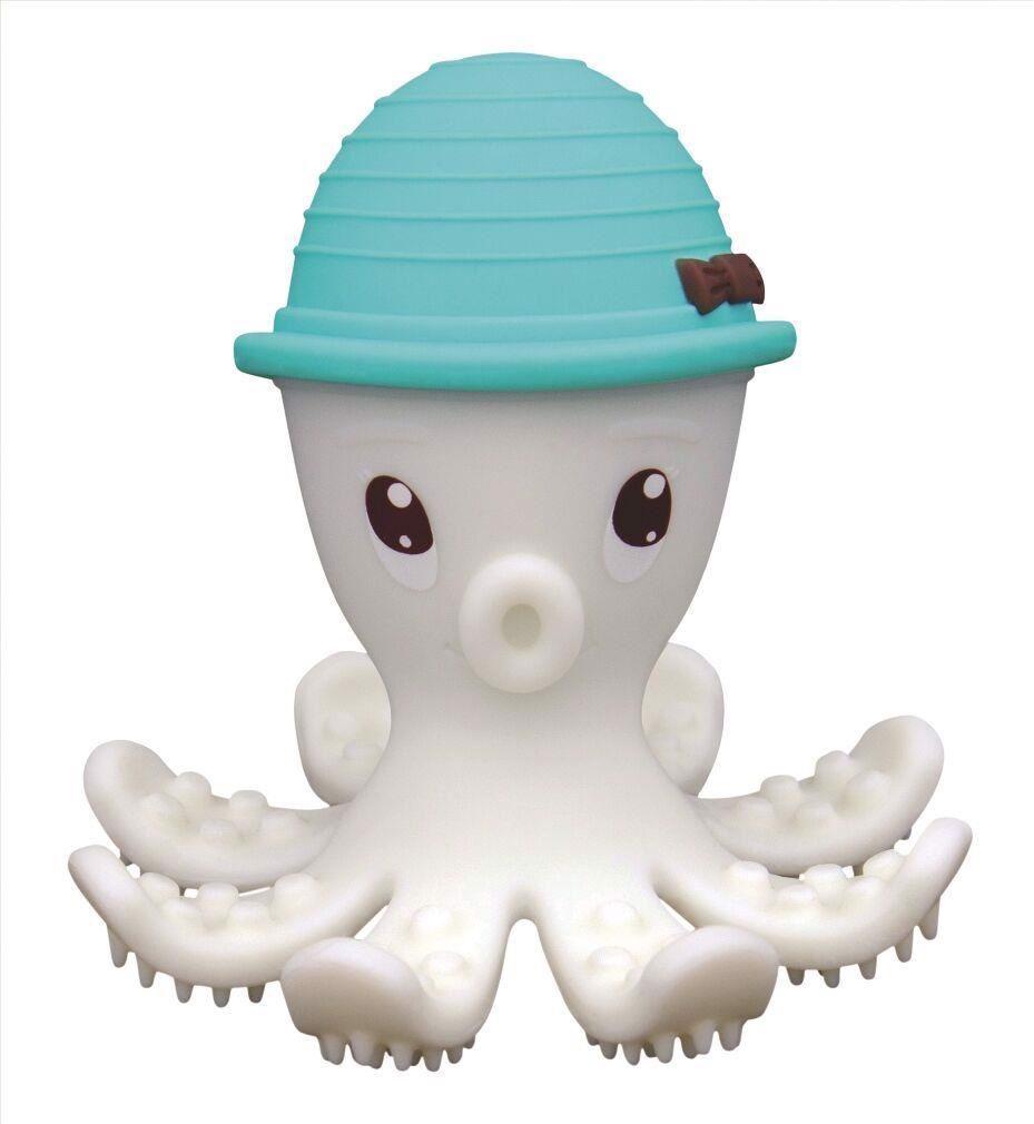 Image of   Bidering blæksprutte. Grøn/lyseblå