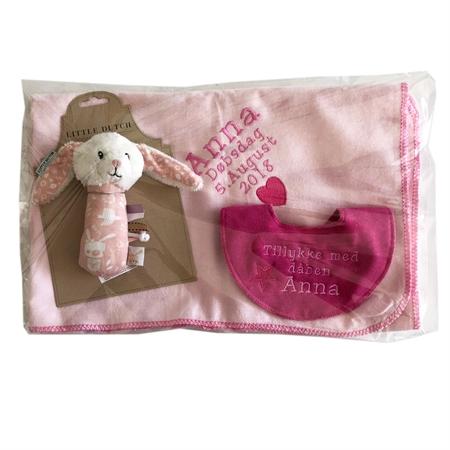 Image of Dåbs gave sæt til piger (Gaveæske til dåb pige)