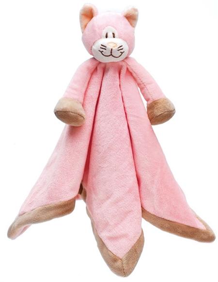 Image of   Nusseklud med navn - lyserød kat