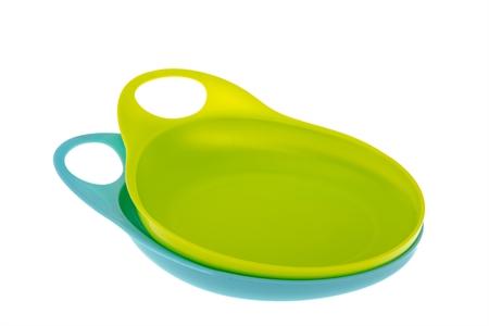 Image of   Easy-Hold tallerken - Blå/Grøn