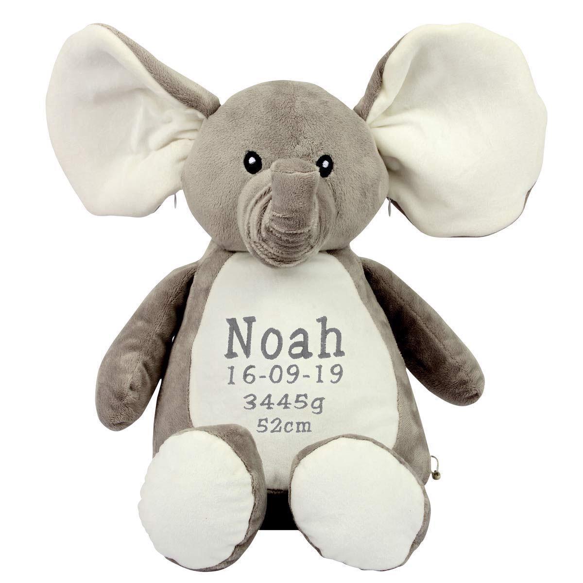 Image of   Bamse med navn. Elefant