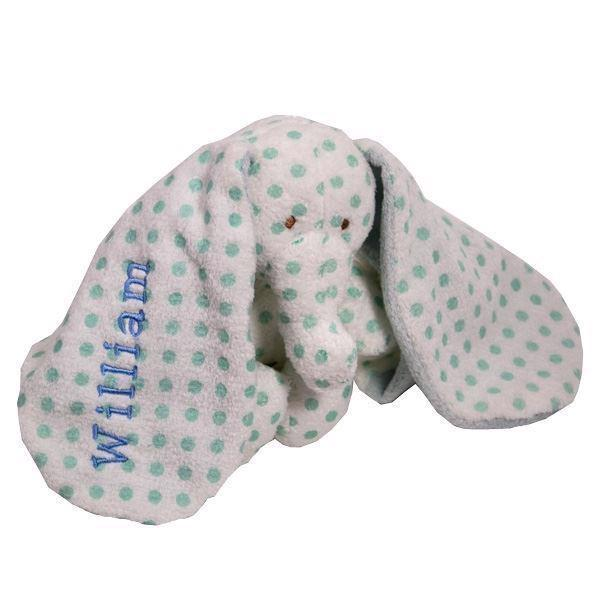 Image of   1-6lyseblå elefant med navn.