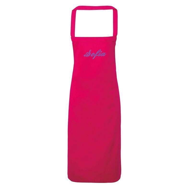 Image of Kokkeforklæde til 3-6 år - med navn. Hot Pink (PR149-INF-Brodering-1-Linje)