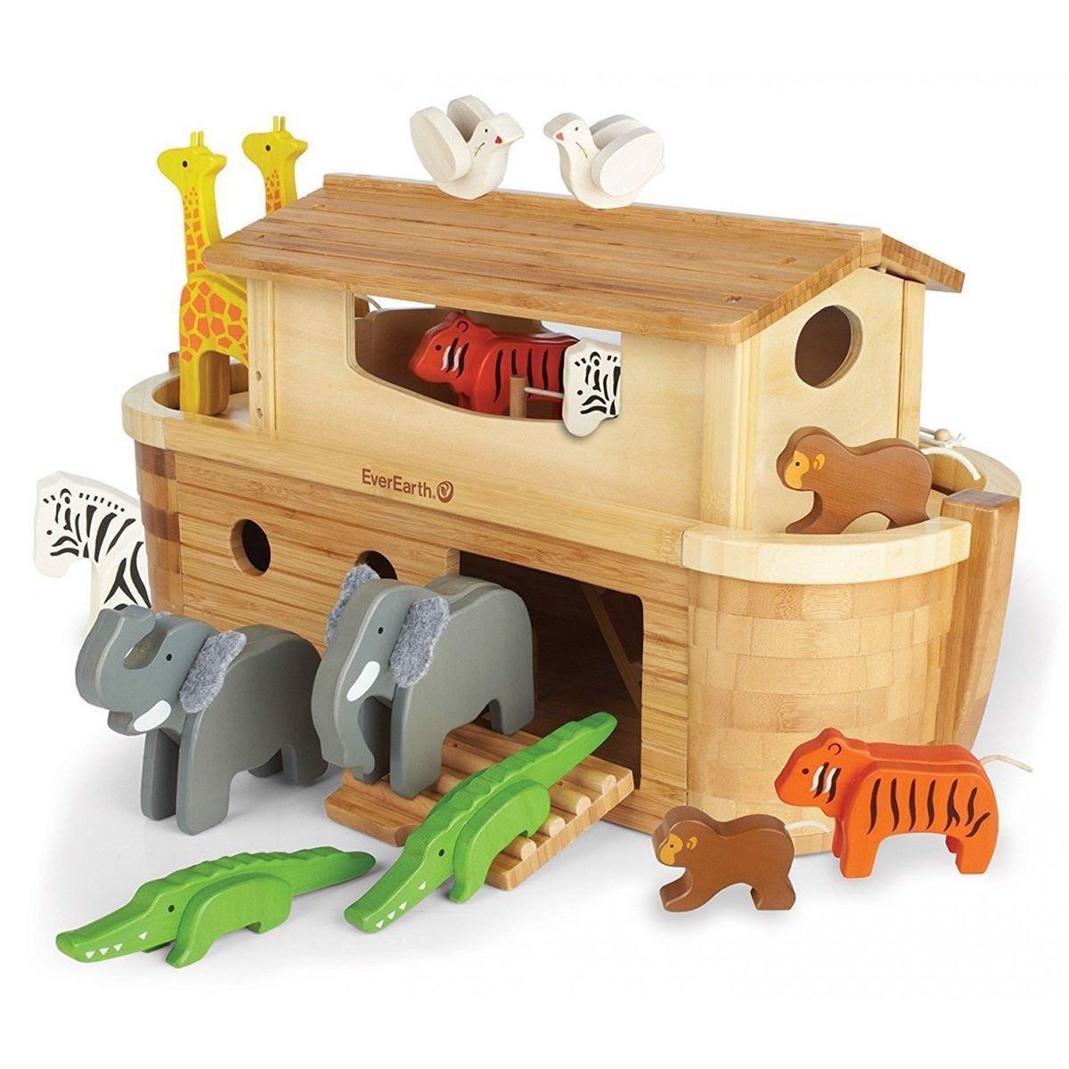 Image of   Giant Noahs Ark med dyr og figurer