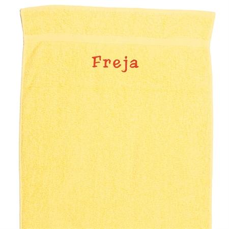 Image of   Håndklæde med navn - Sommergul 50 x 90cm
