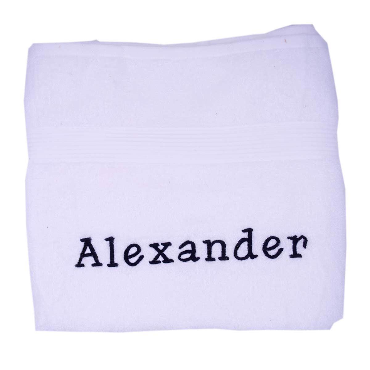 Image of   Håndklæde med navn - 100 x 150