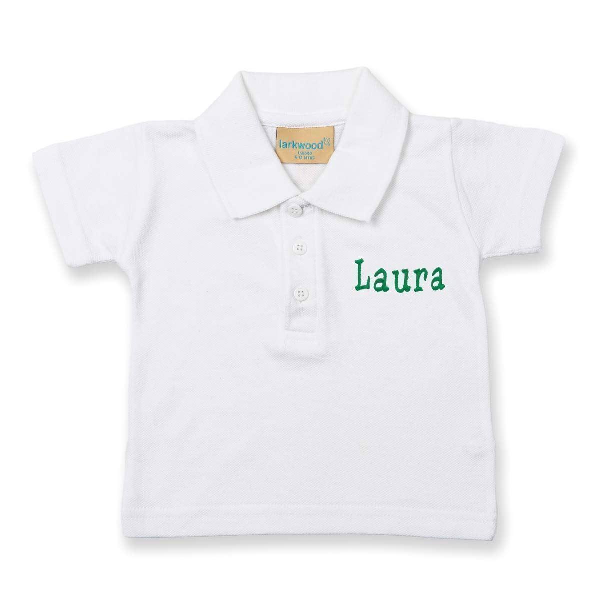 Image of   Polo shirt med navn - Hvid