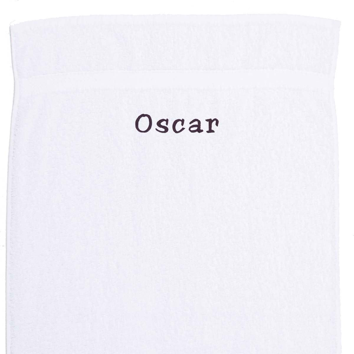 Image of   Håndklæde med navn - hvidt100x 150 cm