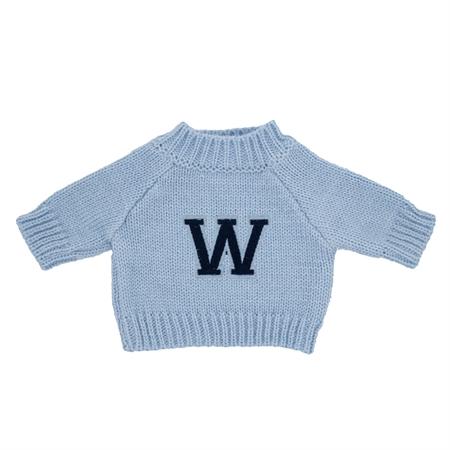 Image of Navne trøje til dukke eller bamse. Lyseblå. Str M. til dukke/ bamse ca str 15-25 cm (MM083R-lysebla)