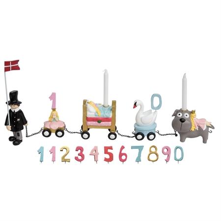 Image of   H.C. Andersen fødselsdagstog m.11 tal. Pige