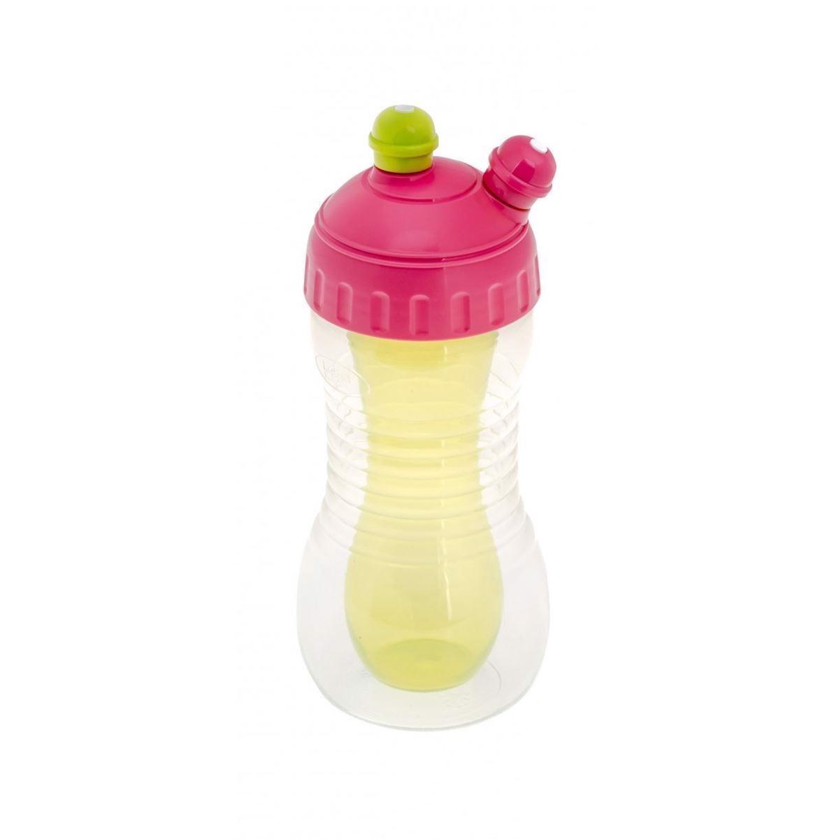 Image of   Drikkeflaske - Pink/Grøn - 2-i-1