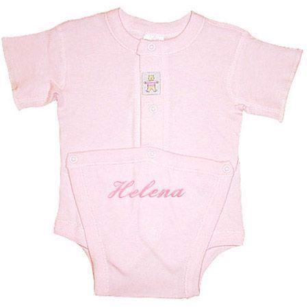 Image of   Kushies body Med Navn- ensfarvet lyserød