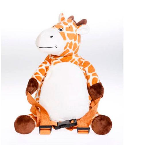 Billede af 3 i 1 rygsæk med sikkerhedsline - Giraf