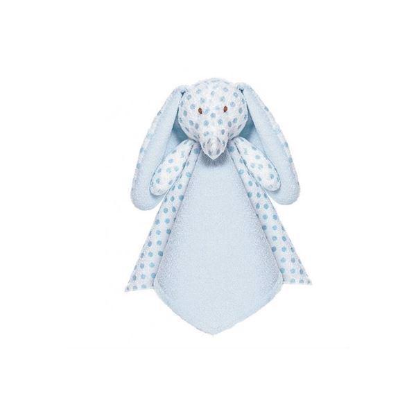 Image of   Nusseklud med navn - big ears elefant i lyseblå